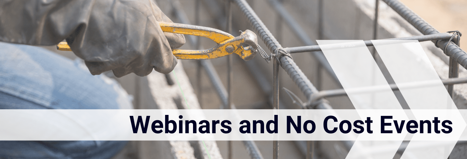 Safety and Health Webinars and No Cost Events Header